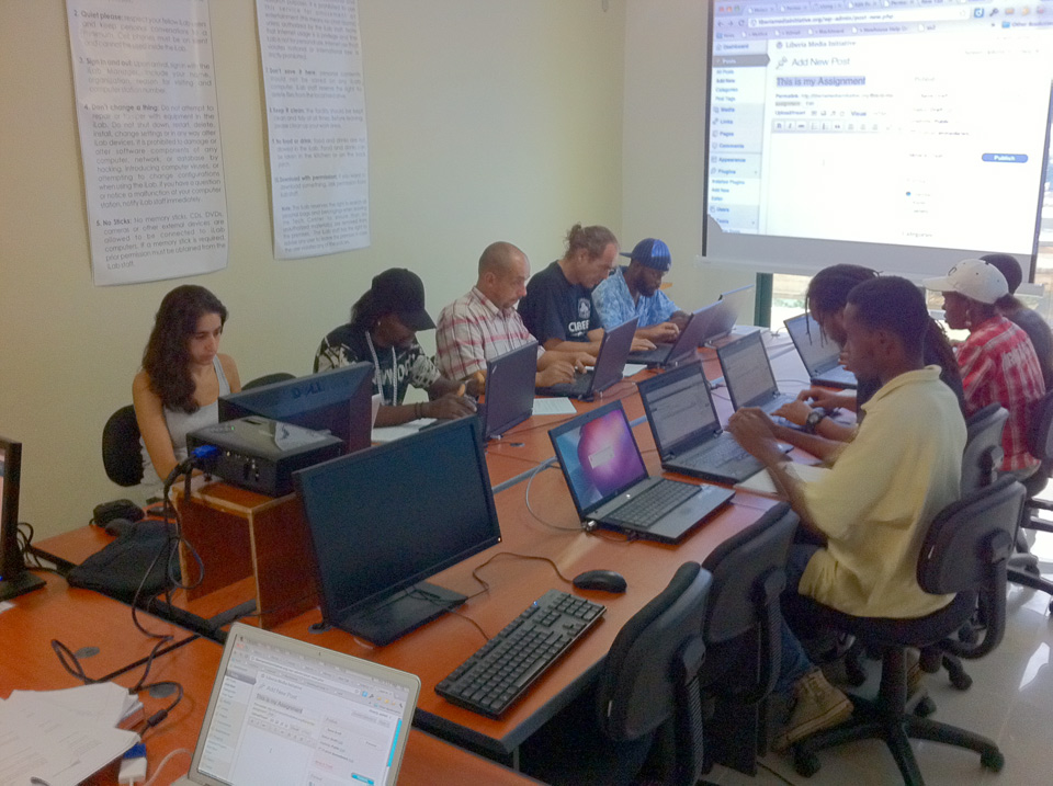 Together Liberia Web Training at Ushahidi Liberia